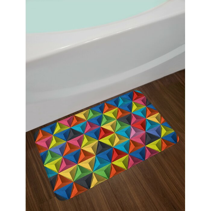 East Urban Home Geometric Colorful Triangle Pyramid Forms Patterns