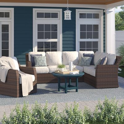 Incredible Sol 72 Outdoor Adele Patio Sectional With Cushions Ncnpc Chair Design For Home Ncnpcorg