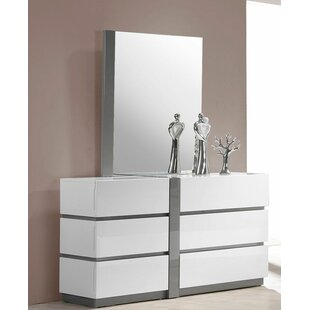 Orren Ellis Kajal 6 Drawer Double Dresser wi..