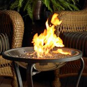 Crystal Fire Stainless Steel Gas Fire Pit Table