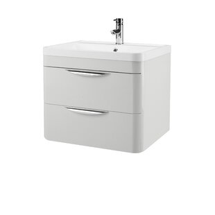 Hirano 59.6cm Wall Mounted Vanity Unit Base By Belfry Bathroom