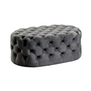 Cho Traditional Oval Button Tufted Cocktail Ottoman by House of Hampton