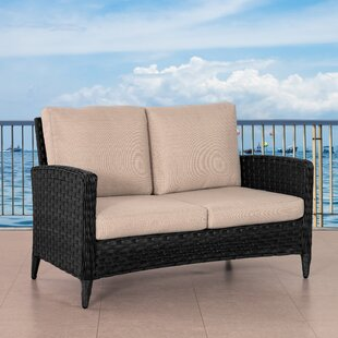 Rufina Wide Patio Loveseat with Cushions
