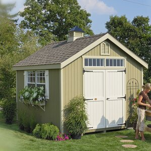 Colonial Williamsburg 10 Ft. W X 10 Ft. D Wooden Storage Shed