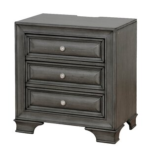 Ellington Circle 3 Drawer Nightstand by Darby Home Co