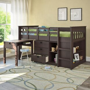 Angelica Twin Low Loft Bed with Bookcase by Mack & Milo