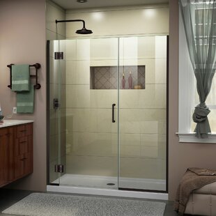 DreamLine Unidoor-X 46-46 1/2 in. W x 72 in. H Frameless Hinged Shower Door