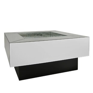 Robbins Luxury Mirrored Coffee Table With Storage By Rosdorf Park - Mirrored coffee table with storage