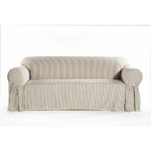 Box Cushion Sofa Slipcover by August Grove