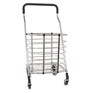 Home & Garden Spirited Folding Shopping Cart Jumbo Size Basket With Wheels For Laundry Travel Grocery Elegant In Style