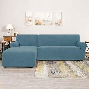 Bolee L-Shaped Jacquard Stretch Box Cushion Sofa Slipcover By Winston Porter