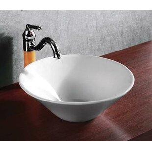 Read Reviews Ceramic Circular Vessel Bathroom Sink By Elanti