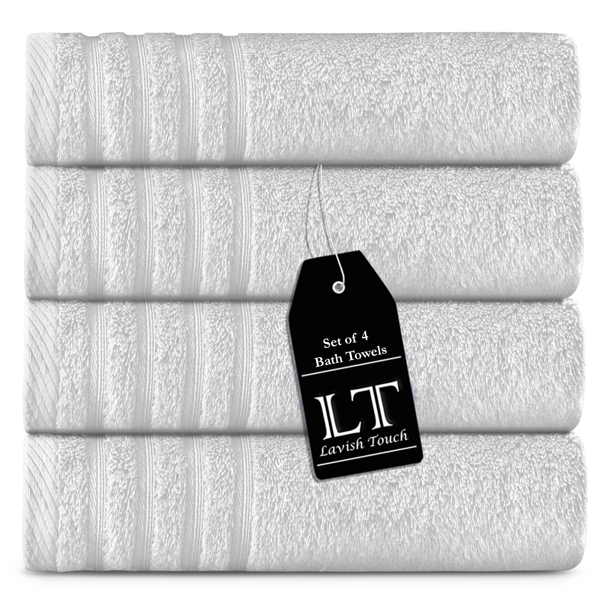 Lavish Touch 4 Piece Egyptian Quality Cotton Bath Towel Set Wayfair