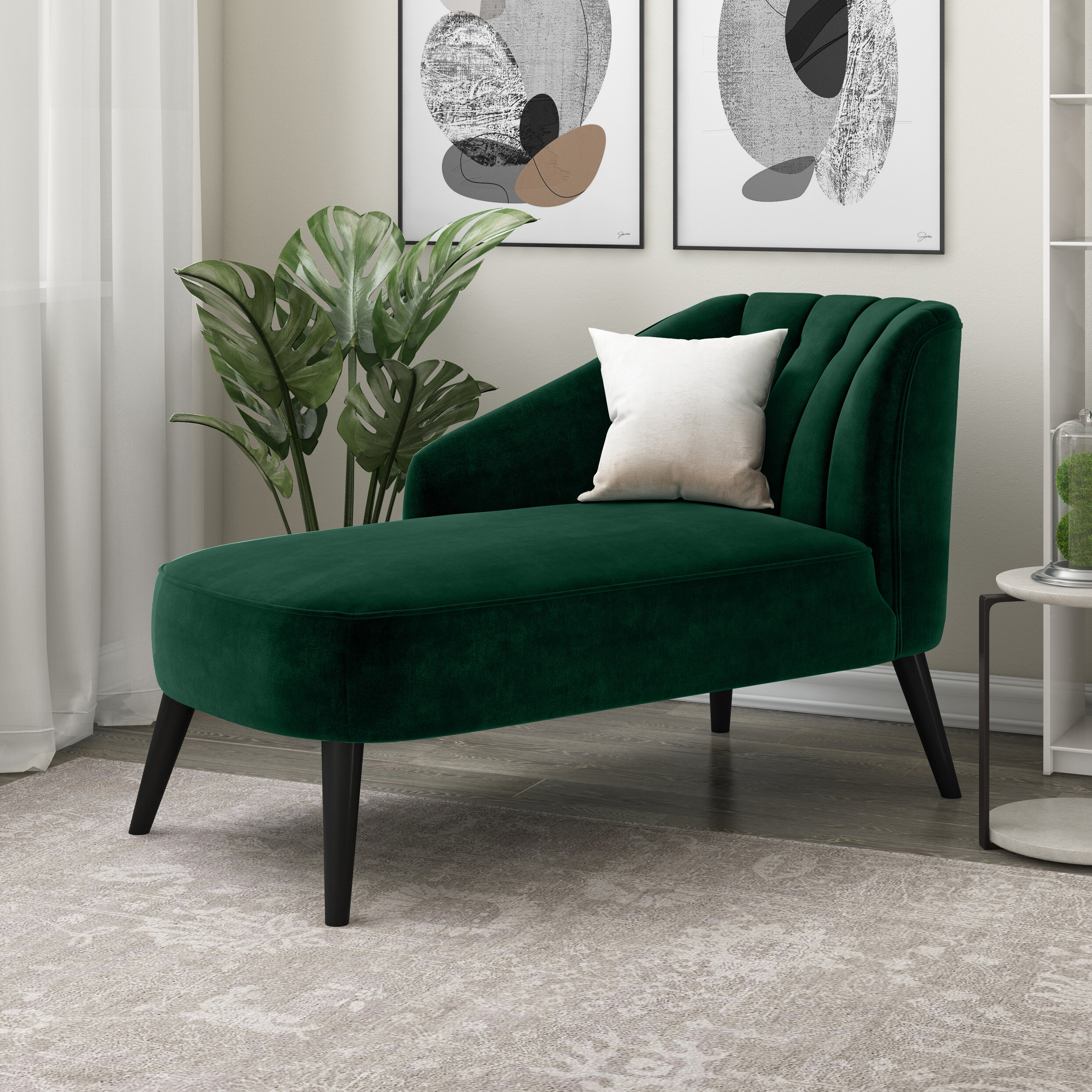 Mercury Row Alaina Tufted Chaise Lounge Reviews Wayfair