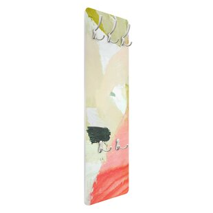 Sound Play In Fuchsia I Wall Mounted Coat Rack By Symple Stuff