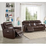 Efren 2 Piece Leather Reclining Living Room Set by Red Barrel Studio®