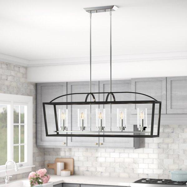 Joss Main Luna 5 Light Kitchen Island Linear Pendant Reviews Wayfair