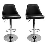 Chontel Adjustable Height Swivel Bar Stool (Set of 2) by Orren Ellis