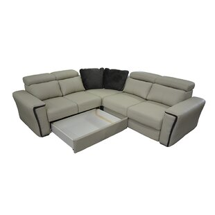 Cheshire Leather Sleeper Sectional