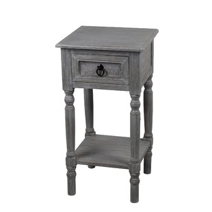 Theodora 1 Drawer End Table by Ophelia & Co.
