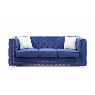 Smollin Chesterfield Sofa by Everly Quinn #2