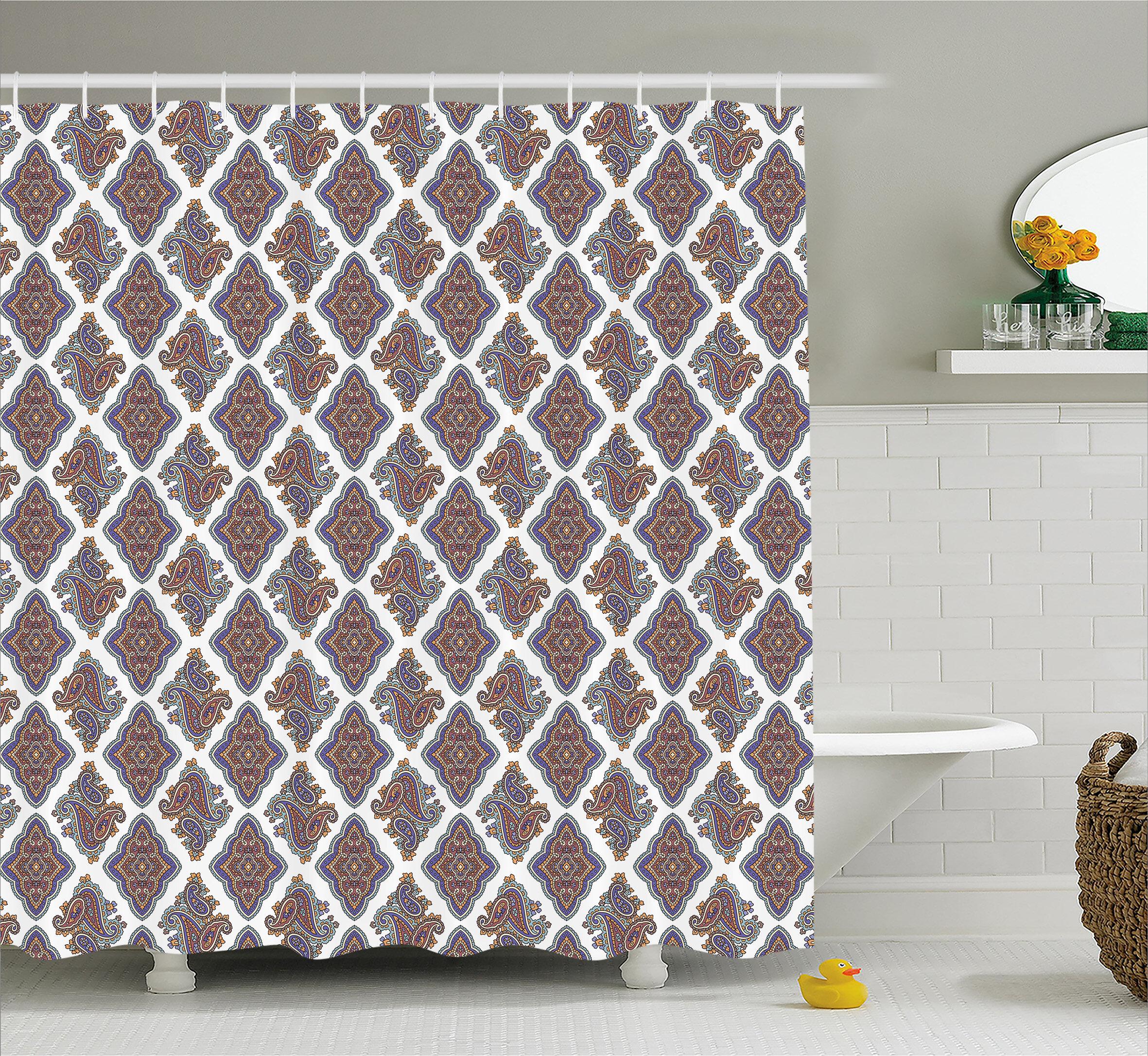 Charlton Home Ivanna Indian Floral Pattern Single Shower Curtain Wayfair