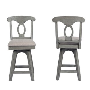 Vergara Napoleon Counter 24 Swivel Bar Stool (Set of 2) Ophelia & Co.