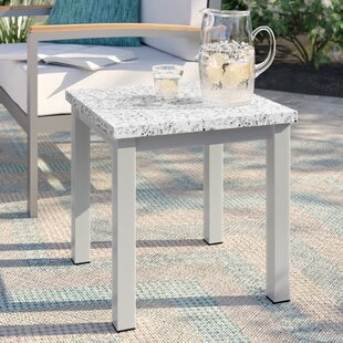 Caspian Side Table by Sol 72 Outdoor Top Reviews