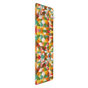 Triangles Pattern Wall Mounted Coat Rack By Symple Stuff