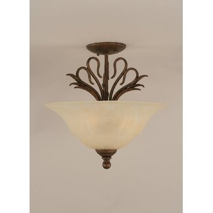 Fleur De Lis Living Thomas 3-Light Semi Flush Mount