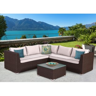 Antionette 4 Piece Sectional Set with Cushions by Orren Ellis