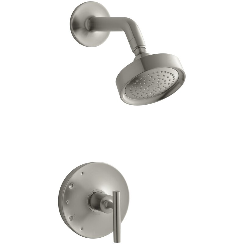 Kohler  Purist Rite-Temp Pressure-Balancing Shower Faucet Trim with Lever Handle, Valve Not Included Finish: Vibrant Brushed Nickel