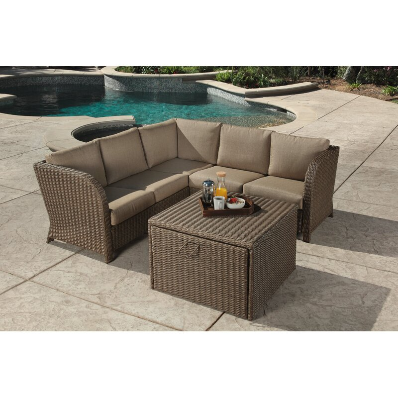 Bayou Breeze Zeigler 2 Piece Sectional Seating Group with Cushions
