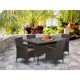 Smithson Back Yard 5 Piece Dining Set with Cushions