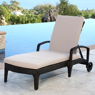 Mercury Row Jupiter Reclining Chaise Lounge with Cushion
