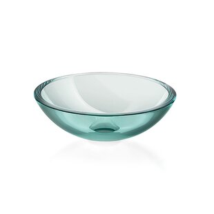 WS Bath Collections Acquaio Glass Circular Vessel Bathroom Sink