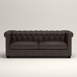 Hawthorn Leather Chesterfield Loveseat by Birch Lane?