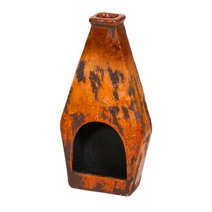 REZ Furniture Clay Wood Burning Chiminea