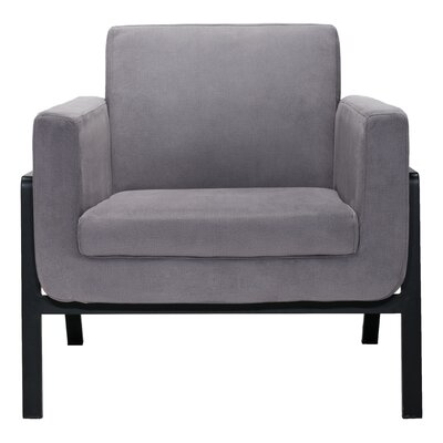 Susan Armchair Upholstery Color: Leatherette - Gray