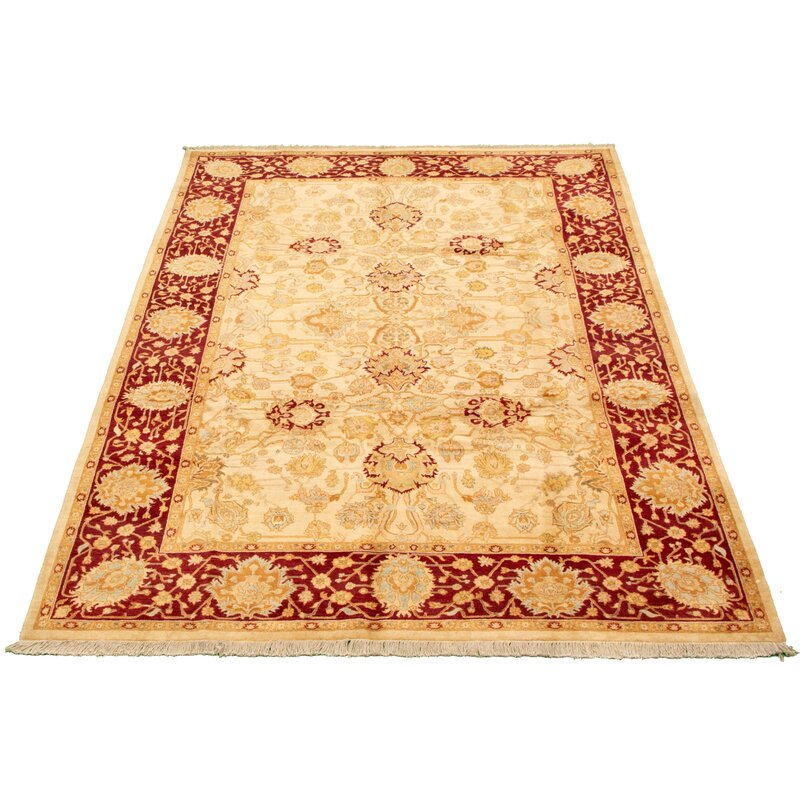 Isabelline One Of A Kind Afelien Hand Knotted 2010s Pako 18 24 Cream 6 X 9 Wool Area Rug Wayfair