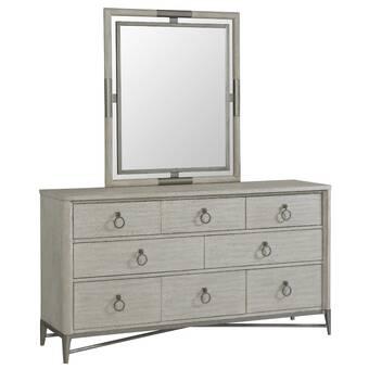 Brayden Studio Alfortville Asymmetrical Wooden 6 Drawer Double Dresser Wayfair Ca