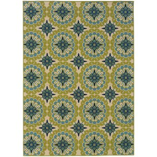 Brooker Yellow/Blue/Beige Indoor/Outdoor Area Rug