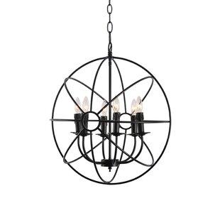 Wrought Studio Lucero 6-Light Globe Chandelier