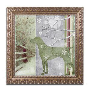 'Country Xmas Dog' Framed Graphic Art