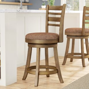 Compare prices Zaquan 24 Swivel Bar Stool by Gracie Oaks Reviews (2019) & Buyer's Guide