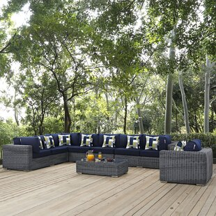 Brayden Studio Keiran 7 Sunbrella Sectional Set with Cushions