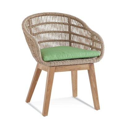 Teak Patio Dining Chair with Cushion Braxton Culler Cushion Color: 6345-61