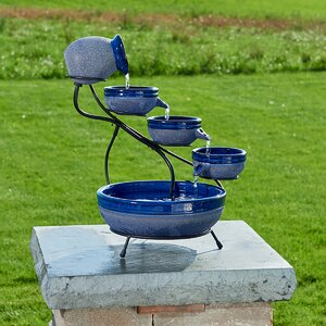 Ceramic Solar Cascade Fountain