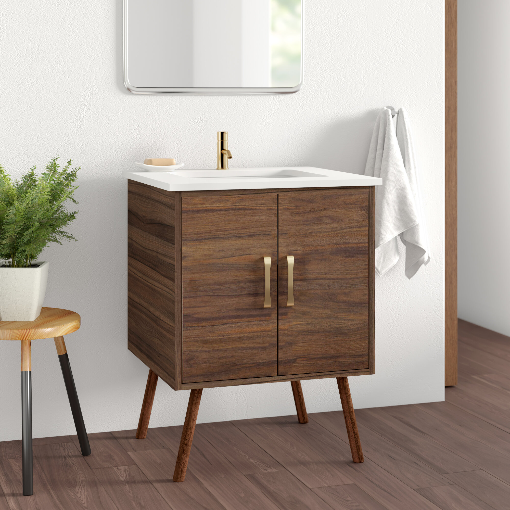 Matthews 24 Single Bathroom Vanity Set Reviews Allmodern