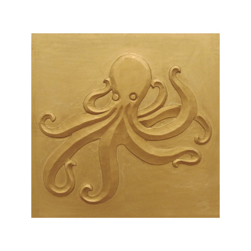 Leila\'s Home Living \'\'Carved Wood Octopus\